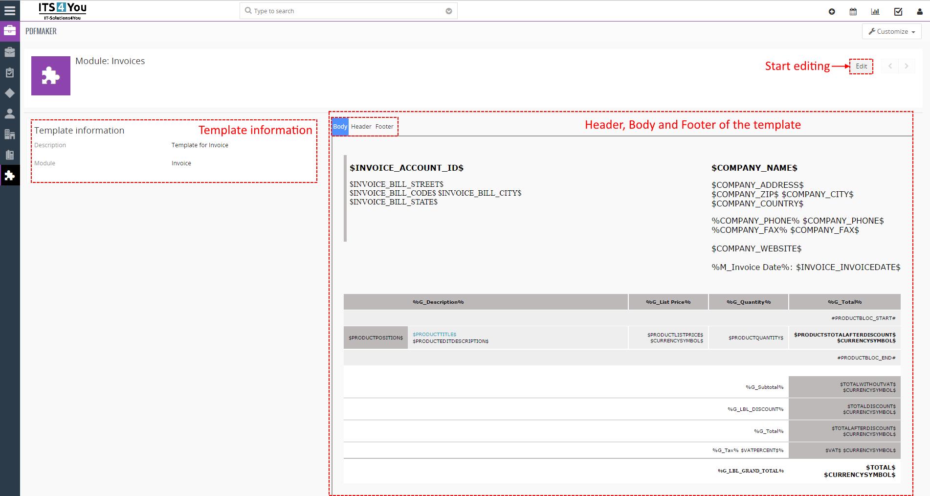 Mpdf Invoice Example