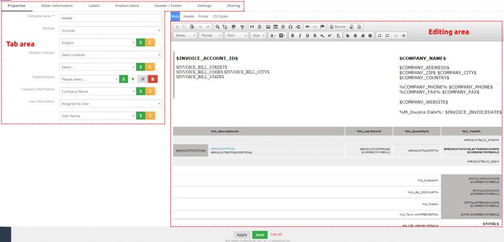 EditView of PDF Maker