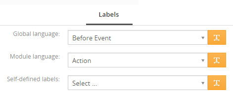 Labels tab