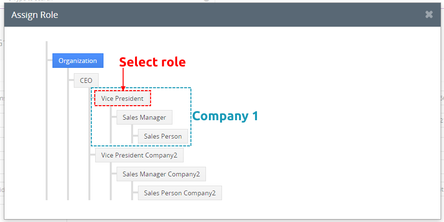 Select role of your Company