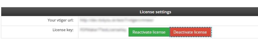 Deactivate license of MultiCompany