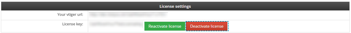 Deactivate license of Cashflow