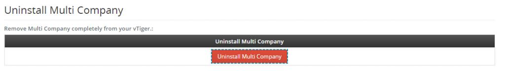 How to uninstall Multi Company