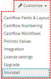 Uninstall Cashflow