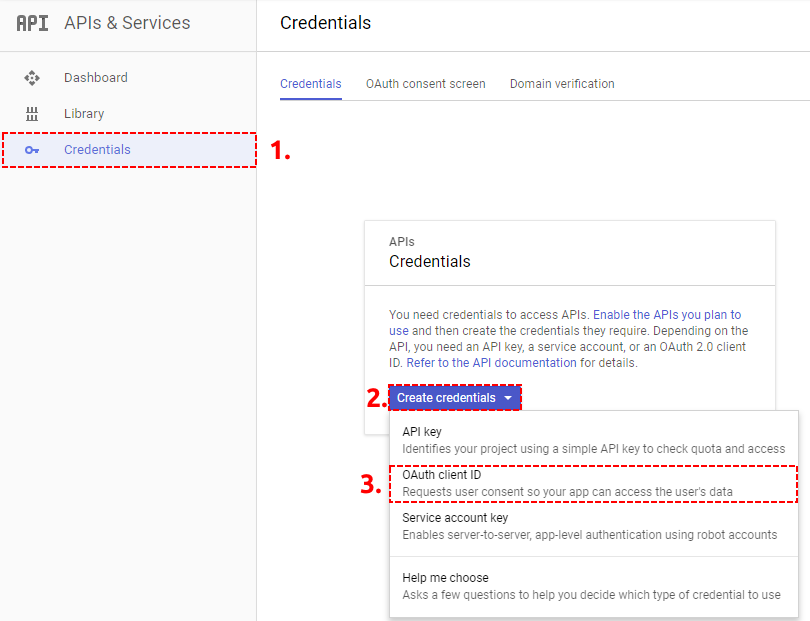 OAuth Credentials Google Project - Google Calendar Vtiger 6 Sync
