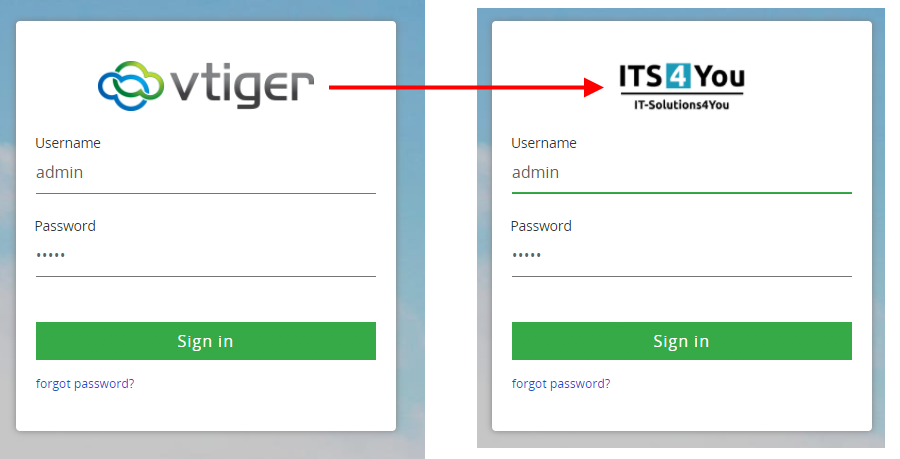 How to change Company logo in vtiger 7 login page