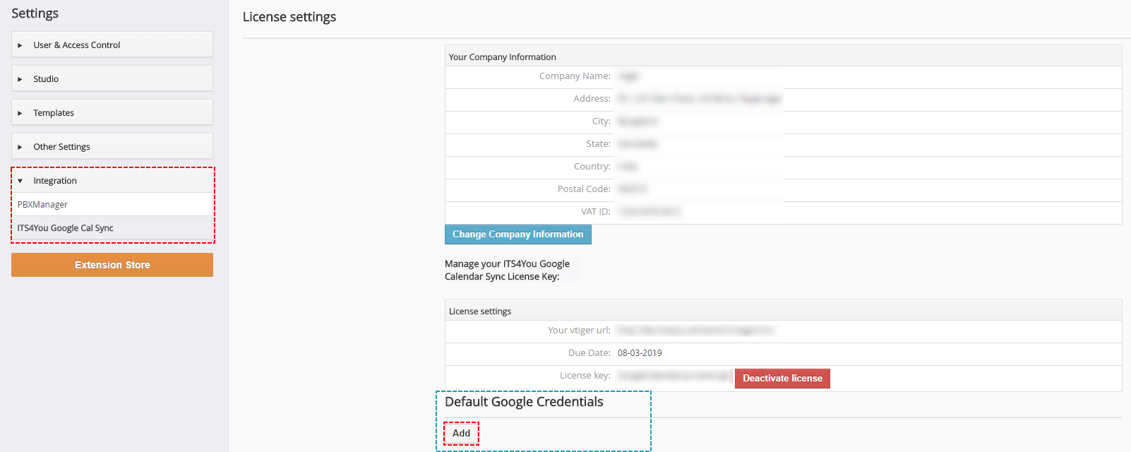 Default ID of Google Project - Google Calendar Vtiger 6 Sync