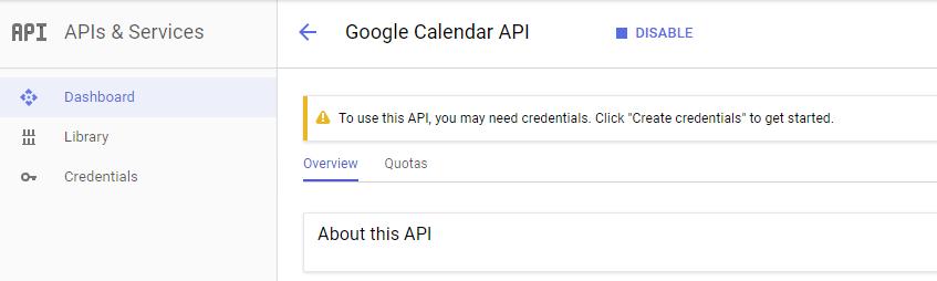 API Google Project - Google Calendar Vtiger 7 Sync