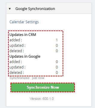 Google -> vtiger Sync