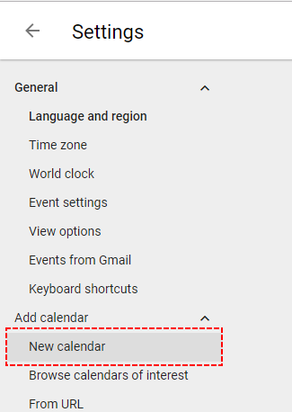 How to create new Google Calendar
