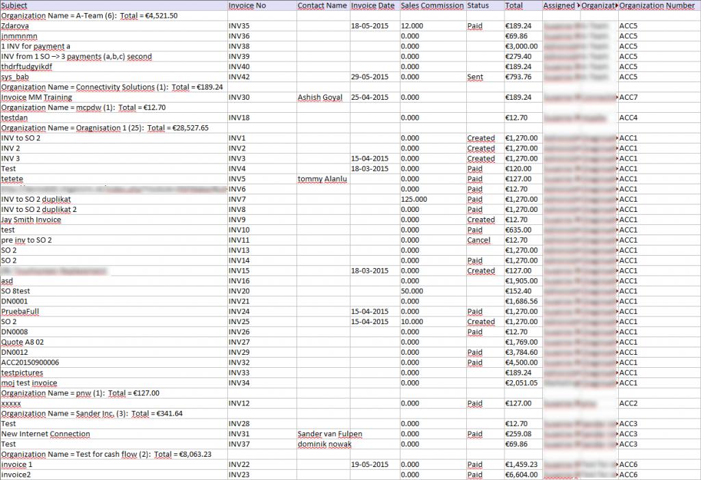 Excel Export - Reports 4 You Vtiger 7