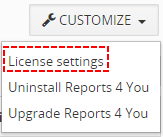 License - Reports 4 You Vtiger 7