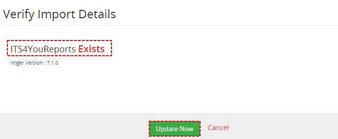 Upgrade - Reports 4 You Vtiger 7