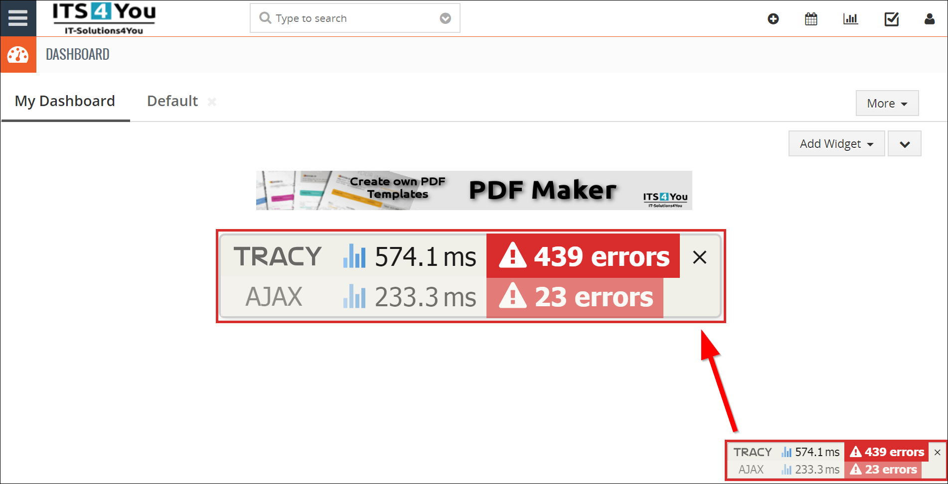 How To View Error Logs — Vtiger