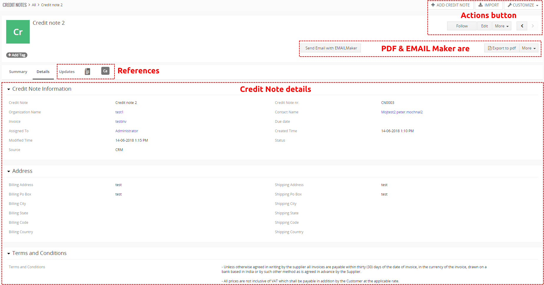 Credit Notes For Vtiger CRM ITSolutionsYou - Invoice 4 you